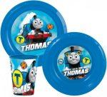 Thomas a gőzmozdony műanyag étkészlet