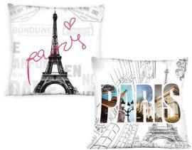 Párizs mintás kispárna huzat